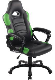 Cadeira Office Flash- Preta & Verde- 126X65X65Cmrivatti