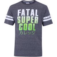 229649bd29a7d Camiseta Fatal Estampada 20405 - Masculina - Cinza Marinho Laranj Centauro