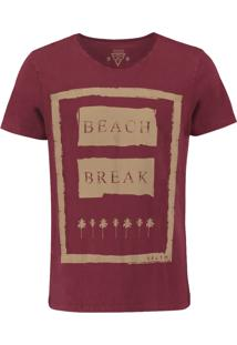 Camiseta Salt 35G Beach Break Bordô