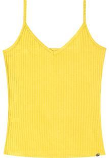 Blusa Com Alças Lunender Amarelo
