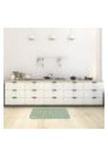 Tapete De Cozinha Mdecore Utensílios Verde 40X60Cm