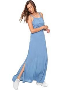 Vestido Fiveblu Longo Liso Azul