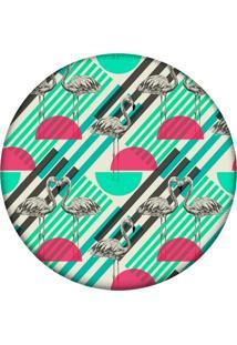 Tapete Love Decor Redondo Wevans Flamingo Tropical 84Cm