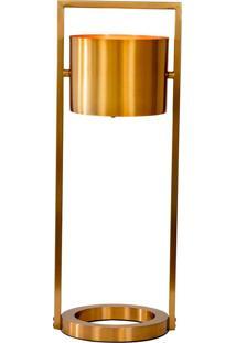 Abajur Decorativo De Mesa Brass