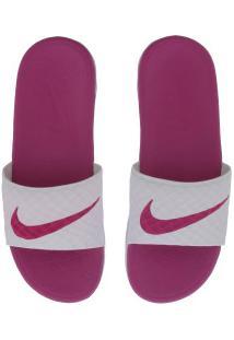 6ae29b6491dd ... Chinelo Nike Benassi Solarsoft - Slide - Feminino - Rosa Branco R 149