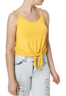 Blusa Regata Autentique Feminina - Feminino-Amarelo