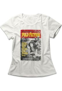 Camiseta Feminina Pulp Fiction Poster - Feminino-Off White