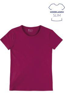Blusa Feminina Básica Slim Em Algodão Com Elastano
