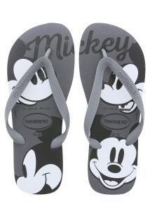 0f3606998d ... Chinelo Havaianas Top Disney Cf Mickey - Masculino - Cinza