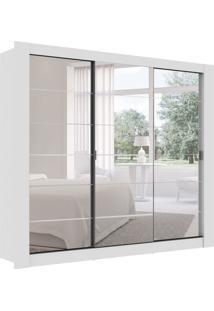 Guarda-Roupa Casal Com Espelho Buritama 3 Pt 2 Gv Branco