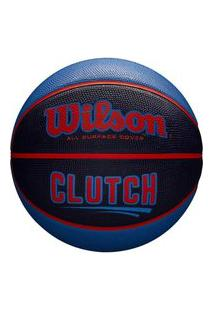Bola De Basquete Wilson Clutch Wtb14197Xb07, Cor: Azul/Laranja, Tamanho: 7