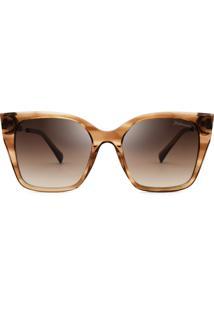 Hickmann Hi9106 - Marrom Transparente - E01/52 - Óculos De Sol