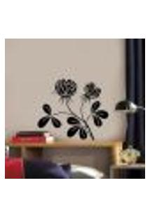 Adesivo De Parede Floral 57 - G 60X60Cm