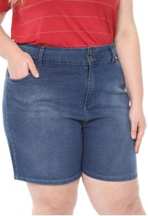 Short Jeans Cativa Plus Estonado Azul
