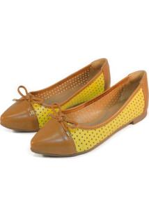 122bbd6c48 Sapatilha Amarela Bicolor feminina