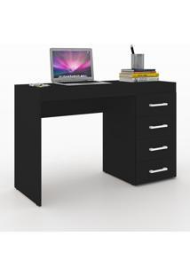 Mesa Para Computador 4 Gavetas 600060 Preto - Vedere