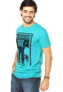 Camiseta Fiveblu Estampa Verde