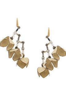 Marni Floral Earrings - Neutro