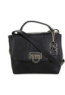 Bolsa Semax Mini Bag Lisa Gio Antonelli Feminina - Feminino-Preto+Branco
