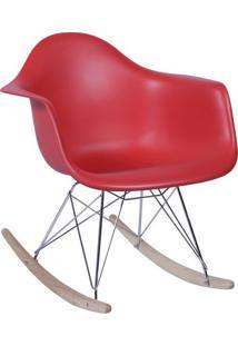 Poltrona Balanã§O Eames- Vermelha & Prateada- 69X63X4Or Design