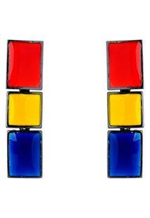 Brinco Málika Mondrian Composition