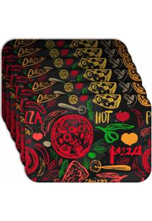 Jogo Americano Love Decor Hot Pizza Kit Com 6 Peças