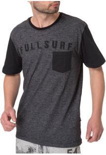 Camiseta Manga Curta Masculina Cinza Escuro