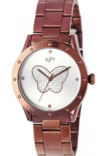 Relógio Zoot Butterfly Chocolate Zw10078-N