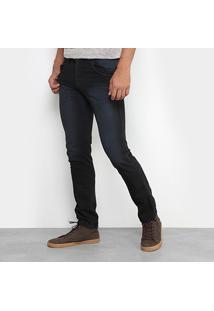 Calça Jeans Skinny Preston Estonada Black Masculina - Masculino