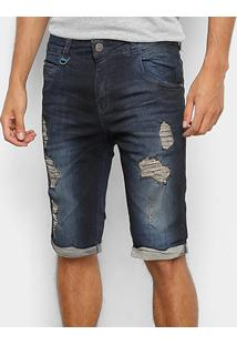 Bermuda Jeans Rock & Soda Jeans Destroyed Masculina - Masculino