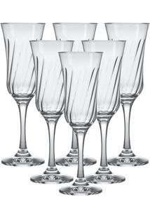 Jogo De Taças Para Champagne Lírio 195Ml Com 6 Peças