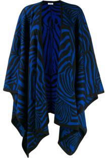 P.A.R.O.S.H. Zebra Print Oversized Cardigan - Preto