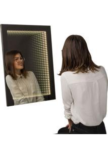Espelho Decorativo Infinito 50X70 Cm Preto