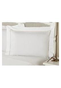 Fronha Percal 230 Fios 50X70Cm Premium Caress Branca Plumasul