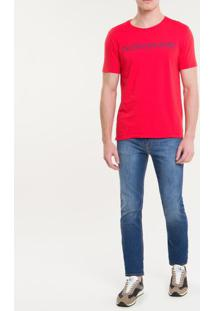 Camiseta Ckj Mc Institucional - Vermelho - Pp