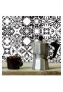 Adesivo De Azulejo Preto E Branco Évora 20X20 Cm 24Un