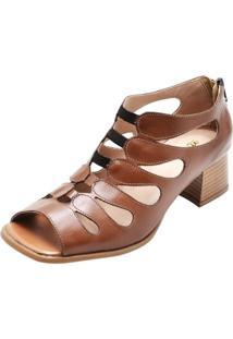 Sandália Miuzzi Com Recortes 3158 Chocolate - Kanui