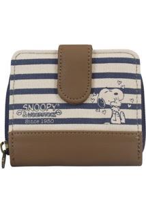 Carteira Snoopy Sp1721 Azul