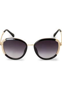 Óculos De Sol Detalhe Pérolas