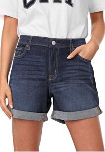 Bermuda Jeans Gap Reta Estonada Azul