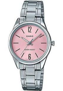 Relógio Casio Collection Ltp-V005D-4Budf Feminino - Feminino-Prata