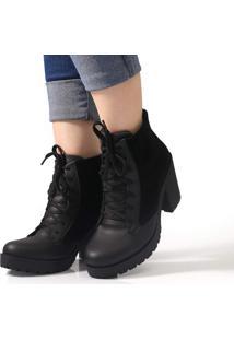 Bota Navit Shoes Tratorada Belle Preto