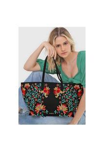Bolsa Desigual Shopping Bag Adaggio Preta