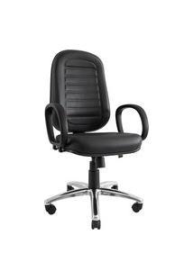 Cadeira Presidente Don. Sintético. Encosto Alto. Mecanismo Relax. Apoio Para Braços. Base Alumínio. Gomada. Prolabore Produtos Ergonômicos