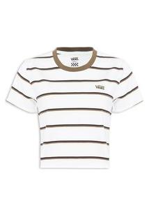 Camiseta Feminina Surf Supply Roll Out Tee - Branco