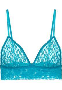 Sutiã Triângulo Renda Sweet Lace Azul Aquamarine