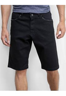 Bermuda Jeans Okdok Reta Masculina - Masculino-Preto