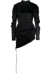 Materiel Vestido Mini Com Franzido - Preto