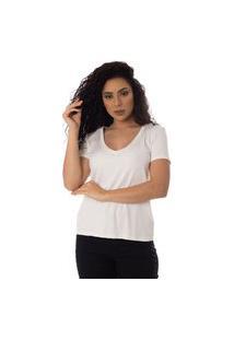 T-Shirts Daniela Cristina Gola V Profundo 10269 12830 Branco