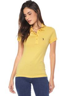 Camisa Polo Aleatory Logo Amarela